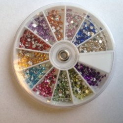 Carrousel strass color rond 2,5 mm