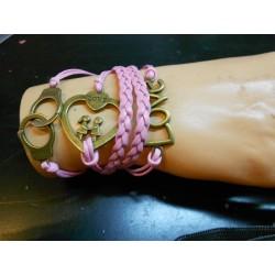 Armband handboeien love en hart