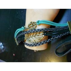 Armband sleutel en blad