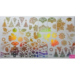 Foil Wrap 139 Holografisch Goud - Kerst
