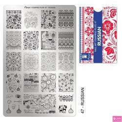 Moyra Stamping Plate 47 Russian
