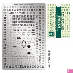 Moyra Stamping Plate 46 Scrabble