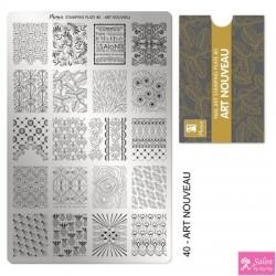 Moyra Stamping Plate 40 Art Nouvea