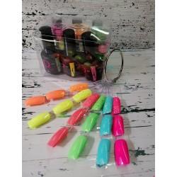 Quida Gelpolish 6 kleuren met 6 kleuren MOMO Glitters