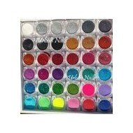 urban glitter dust GD set 36 kleuren met box