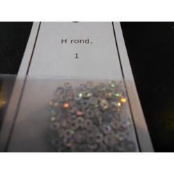 H rond 1 (zilver)