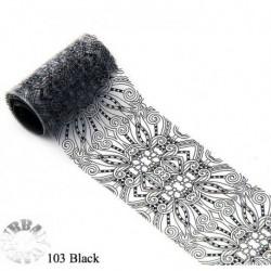 Urban foilie kant zwart  103