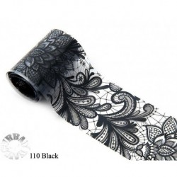 Urban foilie kant zwart  110