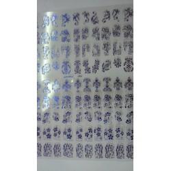 filigree sticker blauw