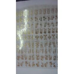 filigree sticker goud