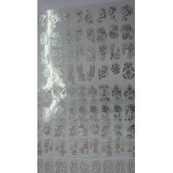 filigree sticker zilver