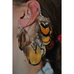 earcuffs  met veertjes