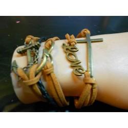 Armband anker love kruis
