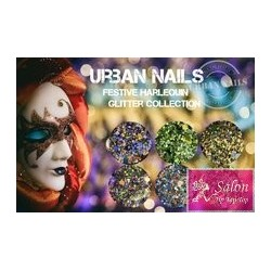 Urban Nails Festive Harlequin glitter collection FH01 FH 02 FH03 FH04 Fh05 Fh06