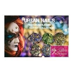 Urban Nails Festive Harlequin glitter collection FH01 FH 02 FH03 FH04 Fh05 Fh06