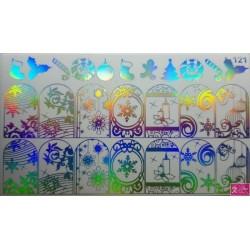 Foil Wrap 121 Holografisch Zilver - Kerst