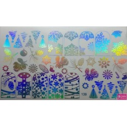 Foil Wrap 139 Holografisch Zilver - Kerst