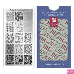 Moyra Mini Stamping Plate 115 Hoppily Ever After