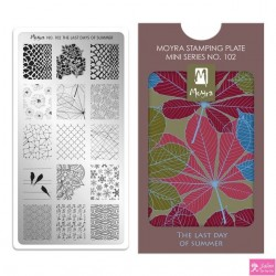 Moyra Mini Stamping Plate 102 The Last Day