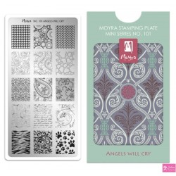 Moyra Mini Stamping Plate 101 Angesl will cry