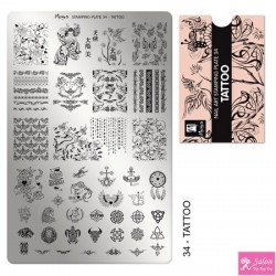 Moyra Stamping Plate 34 Tattoo