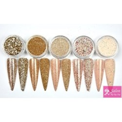 Nudie Glitter collection 5 stuks Urban Nails