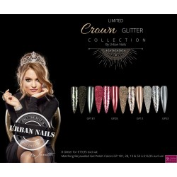 limited crown glitter collection 8 stuks