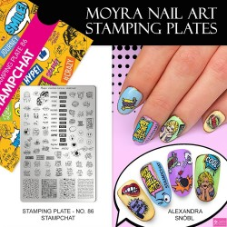Moyra stamping plate 86stamp chate
